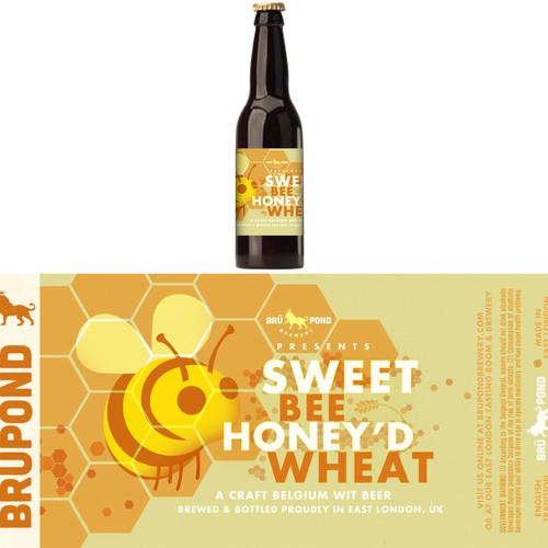 Create the next product label for BRÜPOND BREWERY