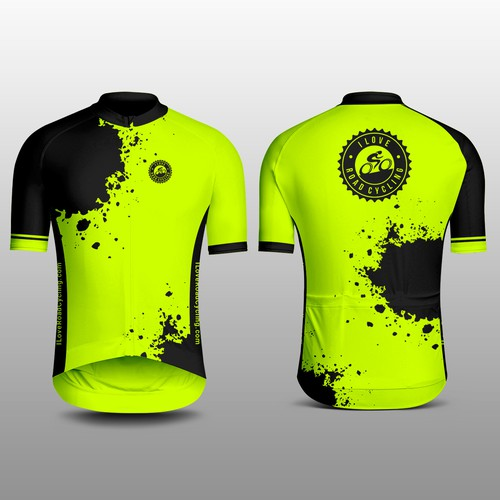 Hi Visibility Road Cycling Jersey