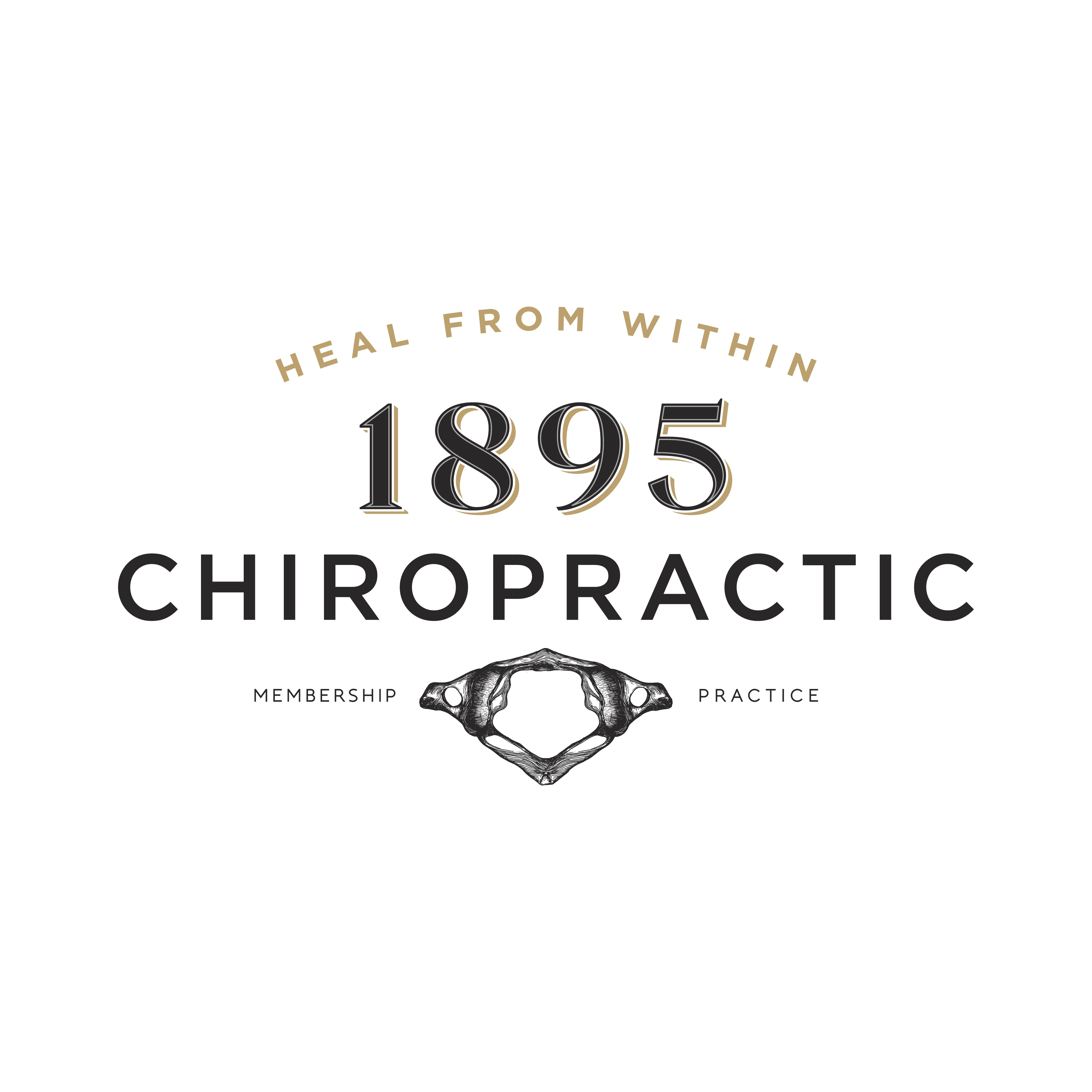 Create an industrial/sleek logo for a Chiropractic office