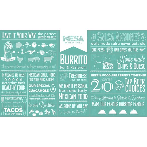 Infographic Illustration for burrito and bar Resturant!
