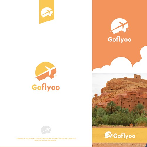 "Modern Logo concept for the Airline Booking portal ""GoFlyoo"""