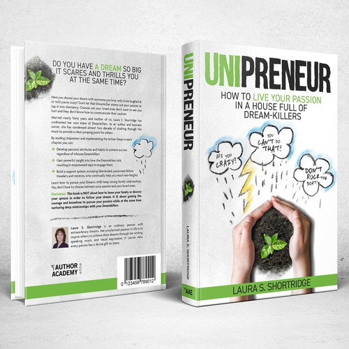 Book cover design for Unipreneur: How to Live Your Passion in a House Full of Dream-Killers