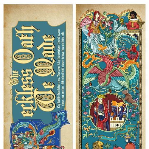 Medieval inspired art for bookmarks & bookplates