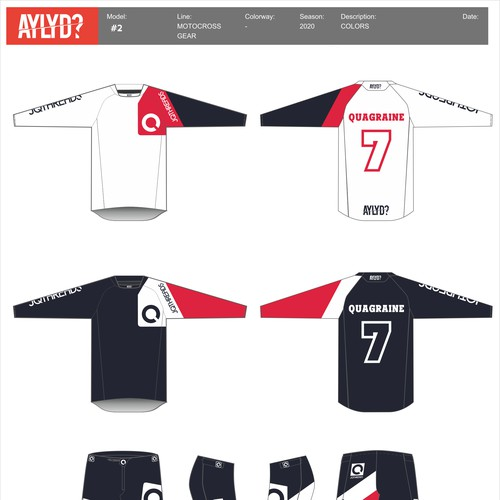 Motocross rider Jersey kit
