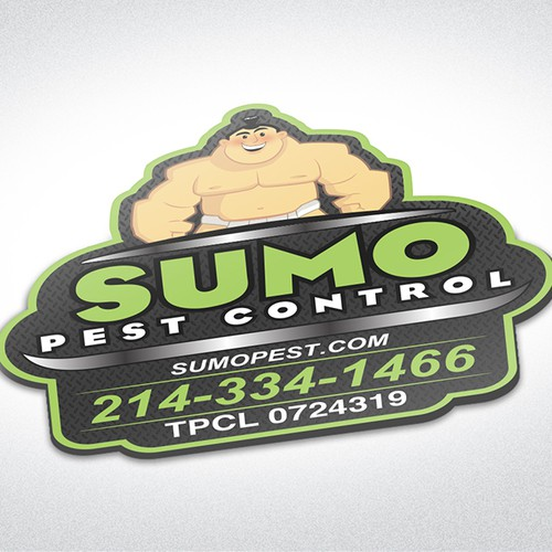 Sumo Pest Control Magnetic Sign
