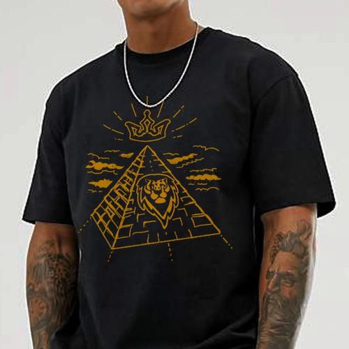 Illustrative T-shirt design for an urban wear brand
