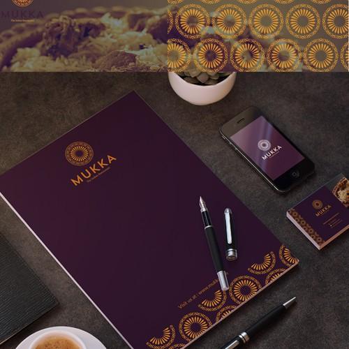 Elegant Indian Restaurant Logo design