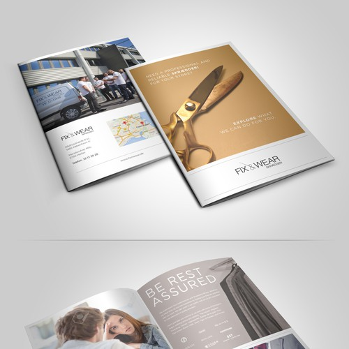 Fix & Wear - Create attention capturing booklet for our tailoring stores