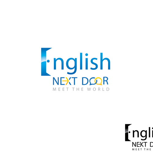"logo for ""English Next Door"" (englishnextdoor.com)"