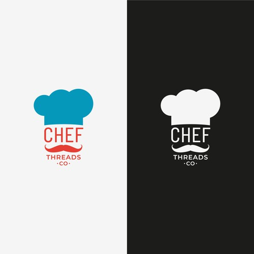 Hipster logo for a chef clothing company