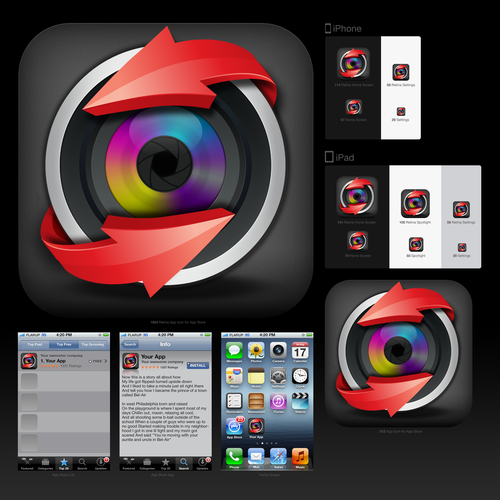 icon design for SpinCamera