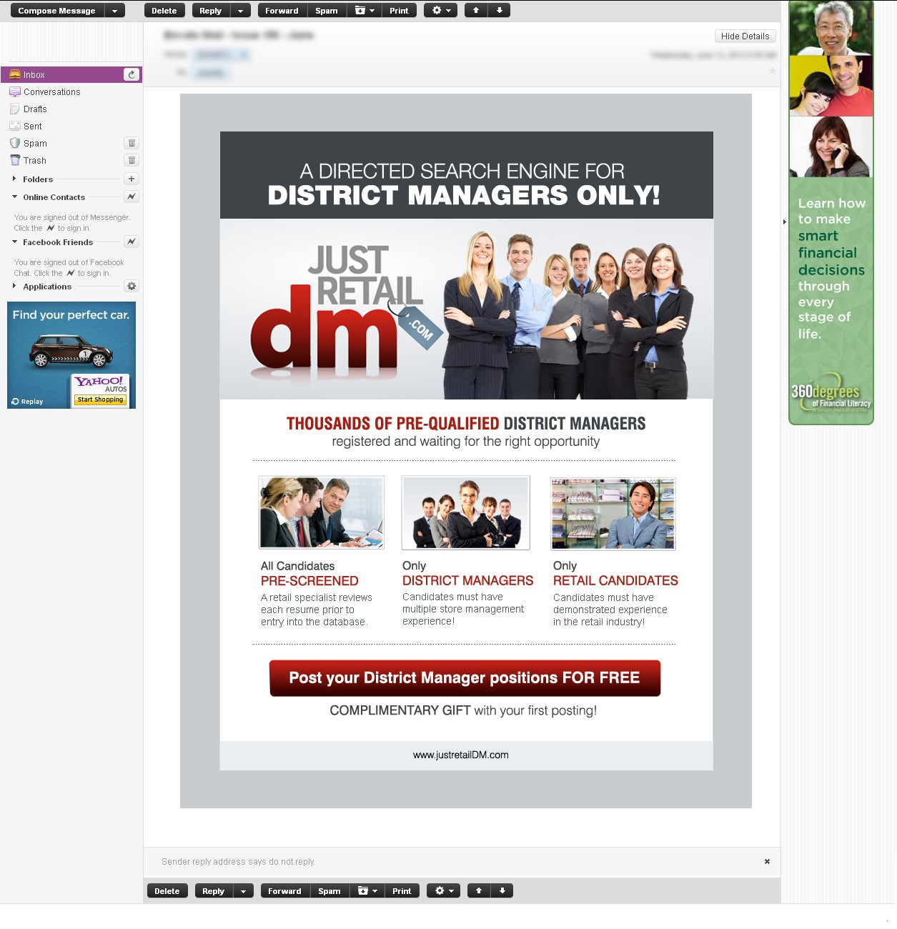 Create the next banner ad for justretailDM