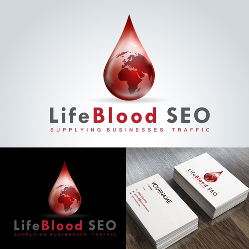A heart-pumping logo for LifeBlood SEO