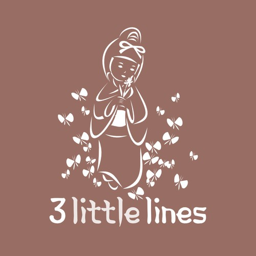 Create a poetic japanese logo for 3 Little Lines