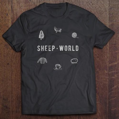 t-shirt design for SheepWorld
