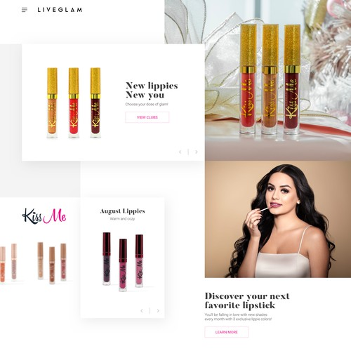 Web page concept for LiveGlam