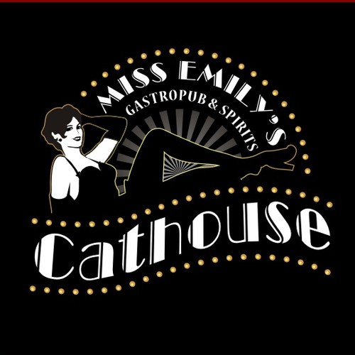 Create the next logo for Miss Emily's Cathouse