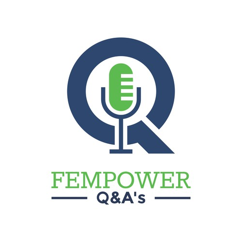 Create an empowering and fun logo for Fempower Q&A's