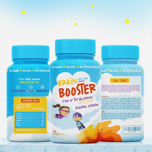 Brain booster capsules for kids