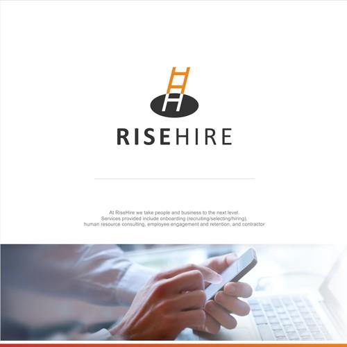 Logo design RISE HIRE