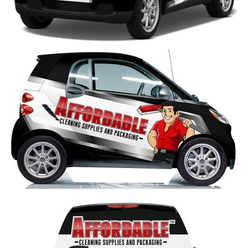 Full car wrap smart car Fortwo