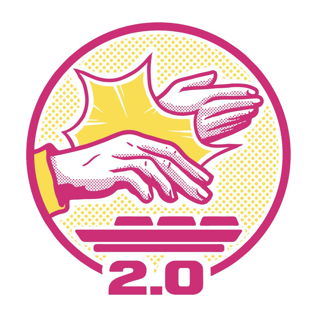 We need a logo of one hand slapping another away from a keyboard.