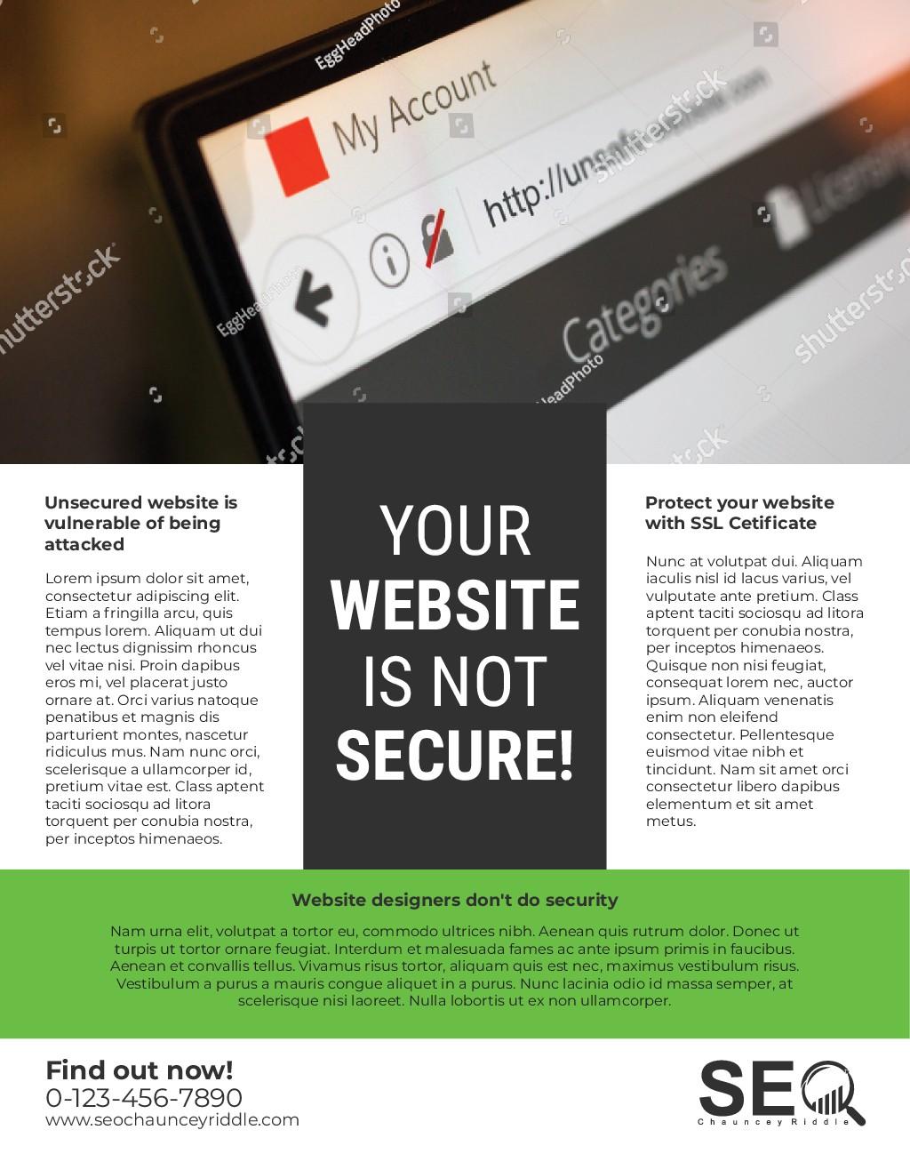 Design Mailer for SSL Not Secure Website