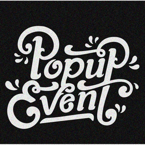 Handdrawn logo for a London based event company