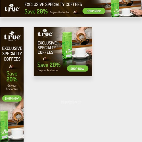 Banner Ads for True Coffee