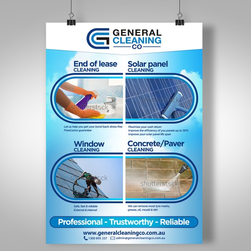 Create an alluring advertisement for General Cleaning Co