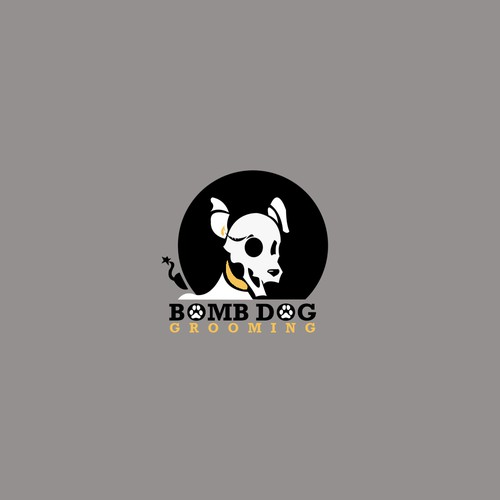 Bomb Dog Grooming Salon Logo