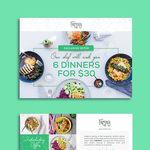 A clear and captivating promotional insert for a healthy food brand