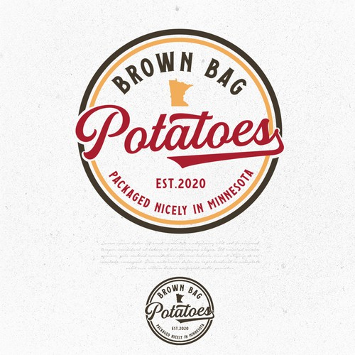 Brown bag potatoes
