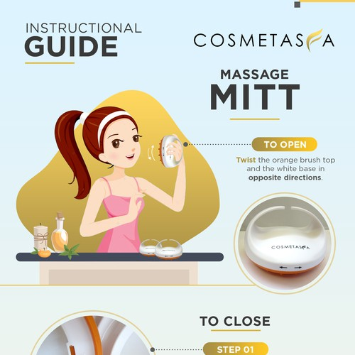 Instructional Guide for Massage Mitt - Cosmetasia