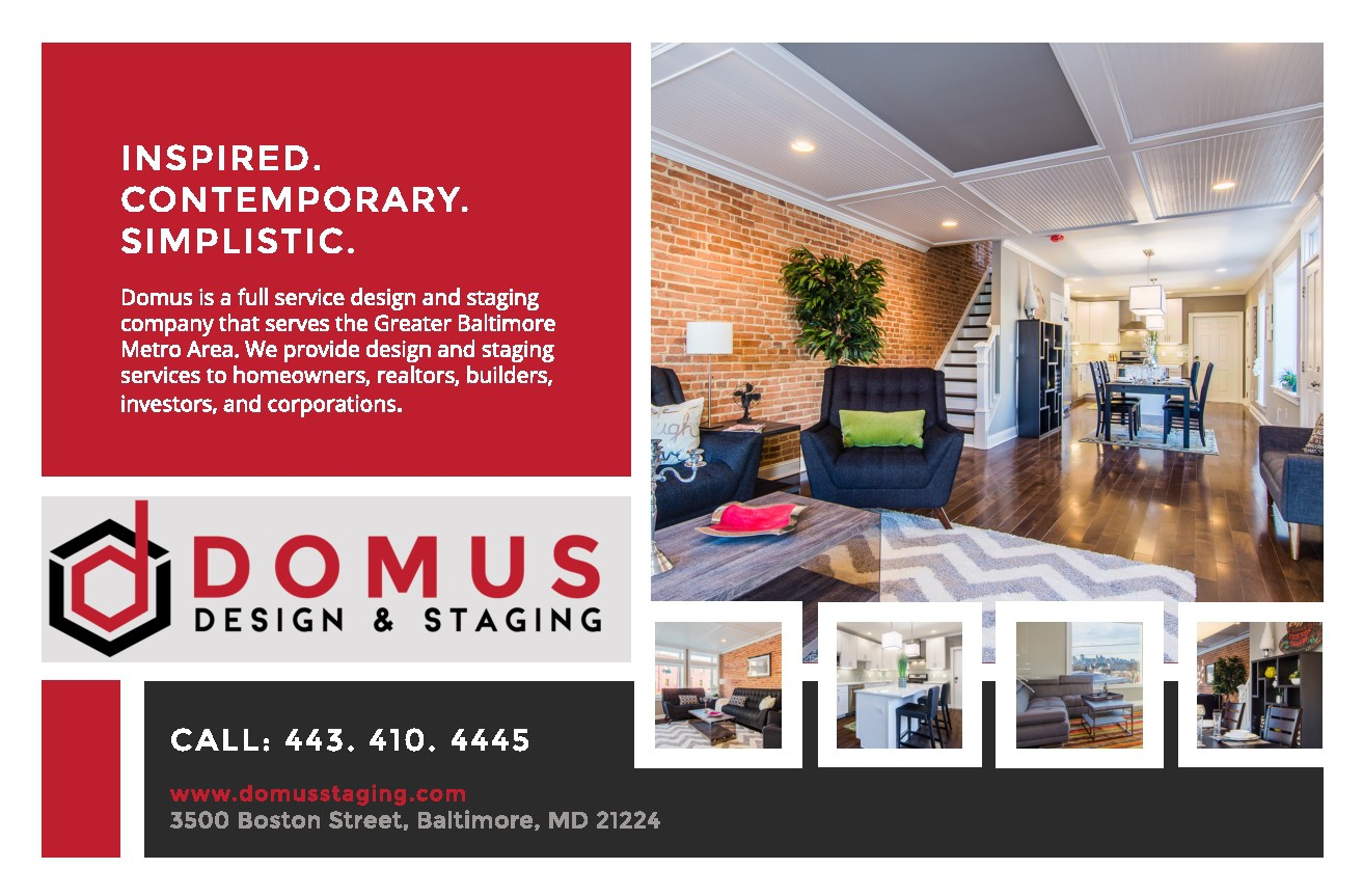Domus - business card and brochure/postcard