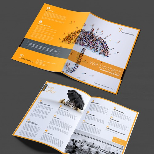 "Design a brochure for ""SP Insurance"""