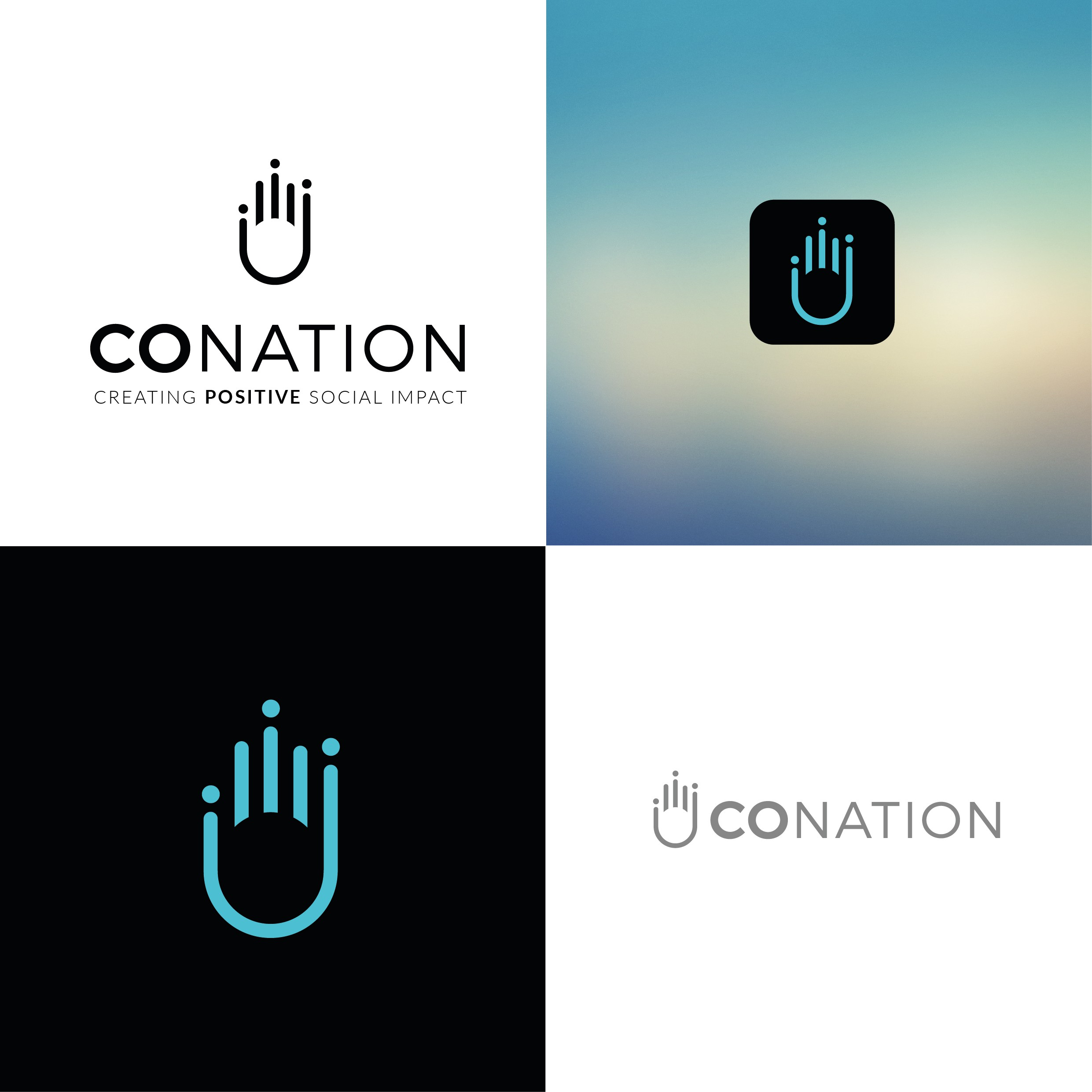 Logo for a new app that's bringing visibility to those who need it most!