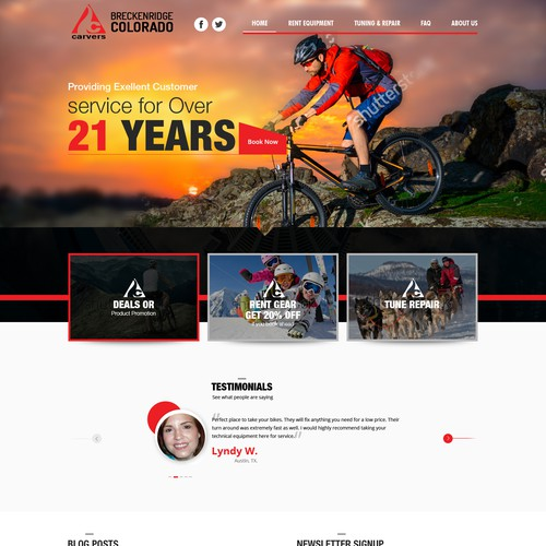 Carvers Ski & Board website Design