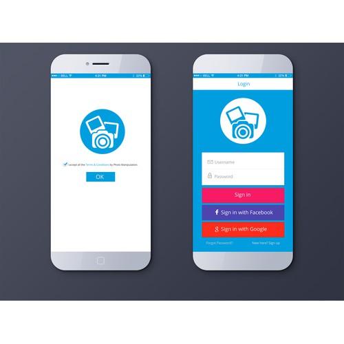 Clean Mobile App UI Design
