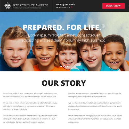 Create a Website for one of the Largest Youth Organizations in the US