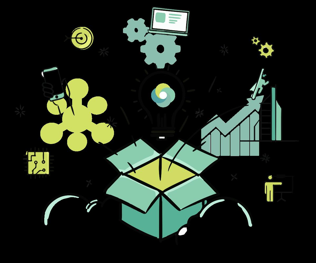 Illustration for a website for HR management software developer