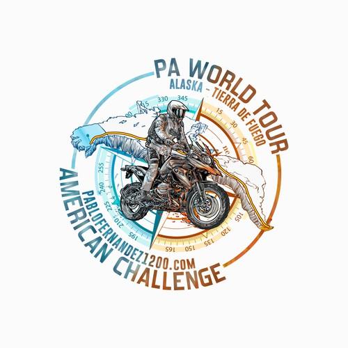 Digital drawing motorcycle
