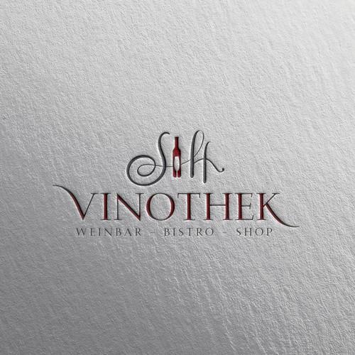 feminin & luxurious logo design for SH vinothek