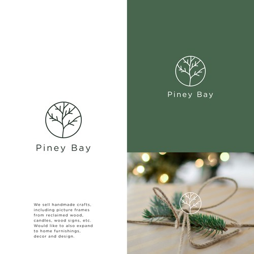 Logo for company that celebrates the beauty & simplicity of nature through handmade crafts & design