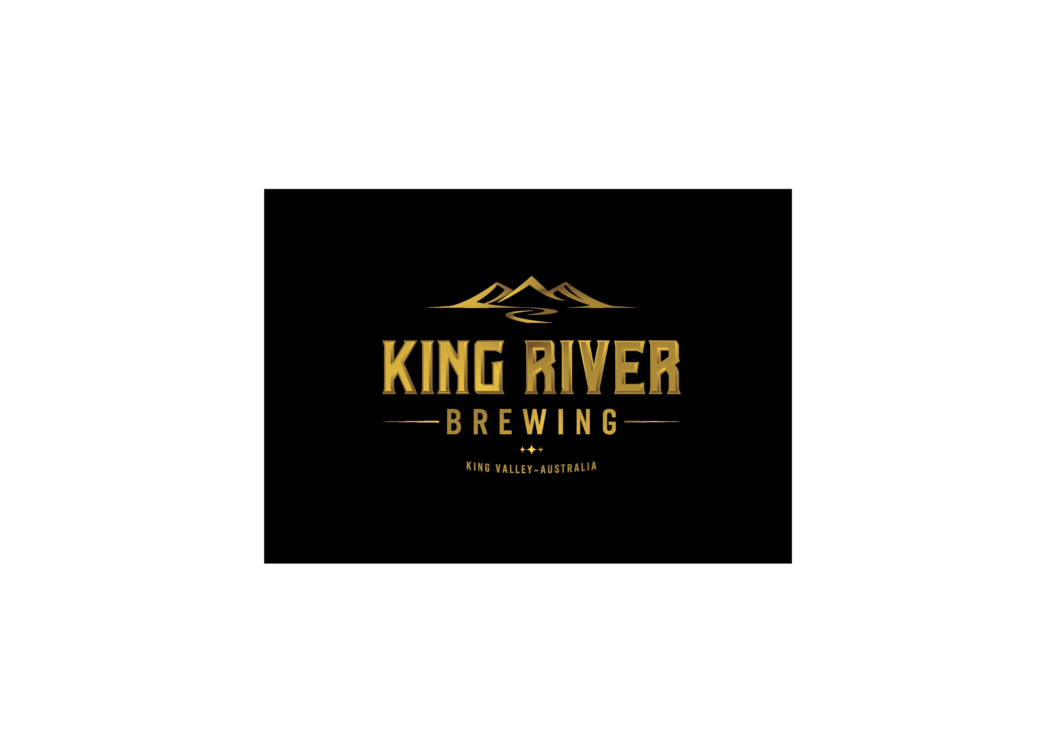 Create a brand defining logo for King River Brewing!