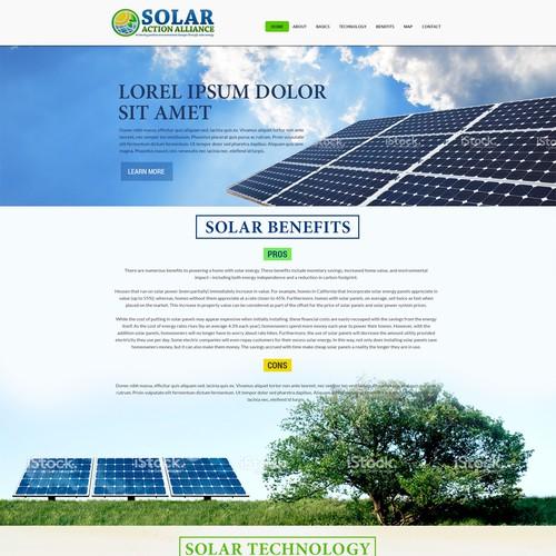 Wordpress Design for Solar Action Alliance