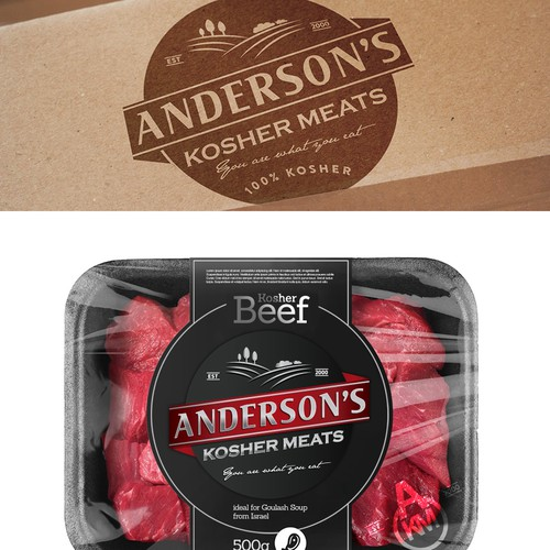 Logo and Website for Anderson's Kosher Meats