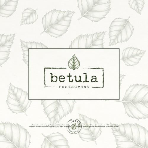 betula restaurant logo proposal