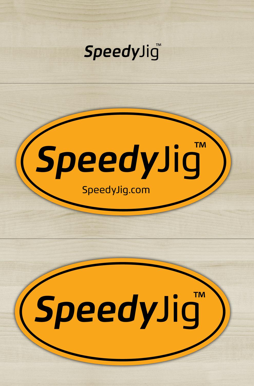 SpeedyJig logo and label design