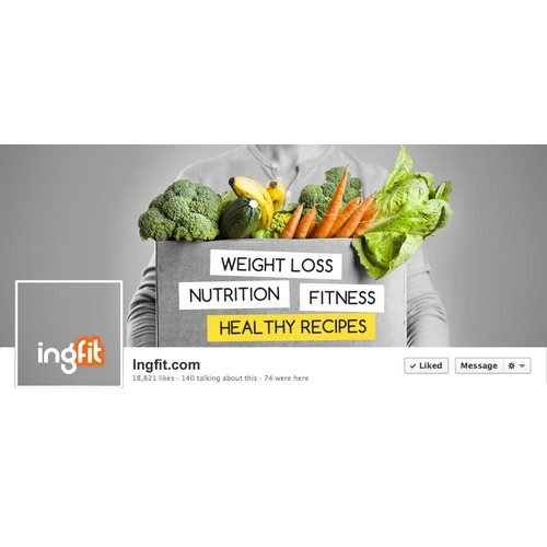 Facebook page for a healthy lifestyle website
